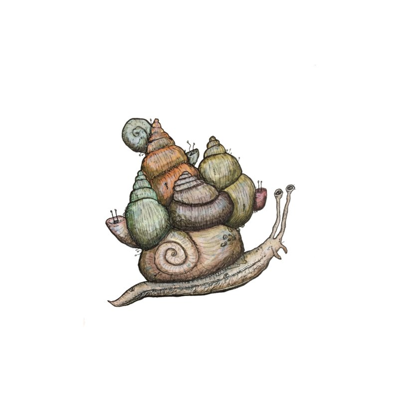 King Castle Snail by Thistleroot's Artist Shop