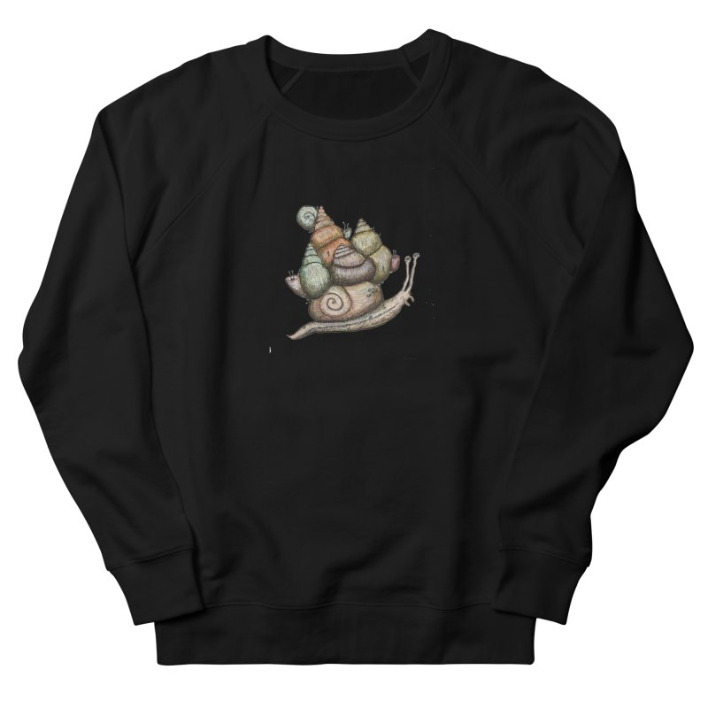 King Castle Snail Women's French Terry Sweatshirt by Thistleroot's Artist Shop