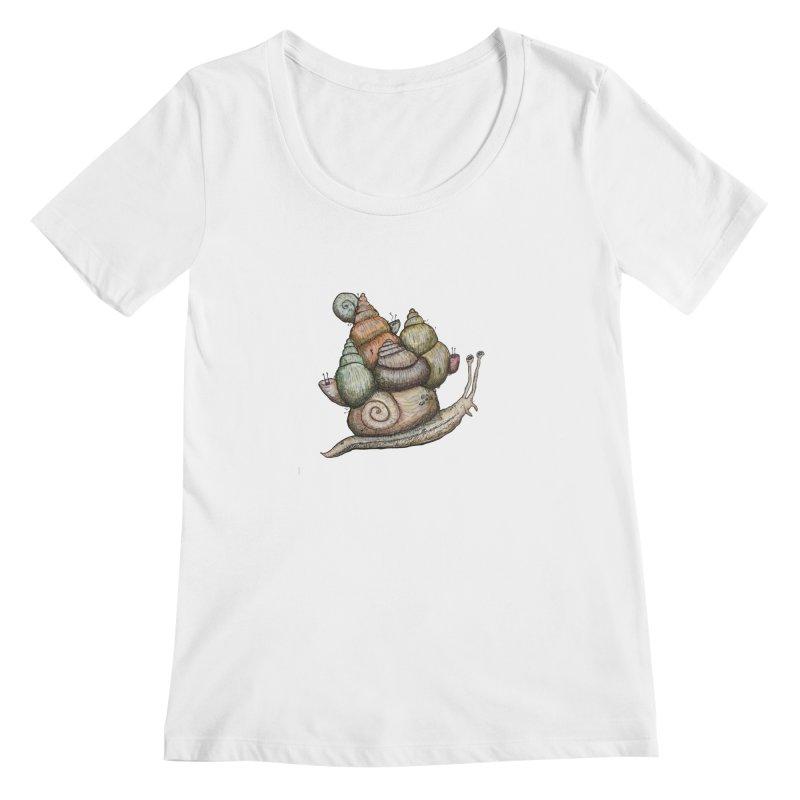 King Castle Snail Women's Regular Scoop Neck by Thistleroot's Artist Shop