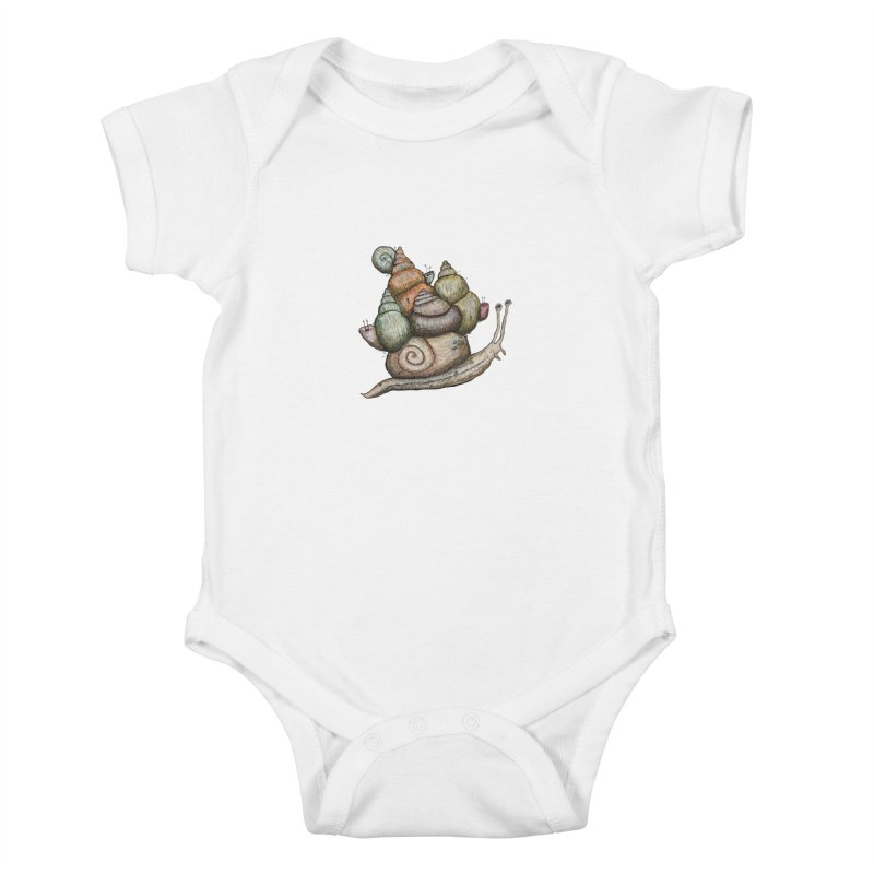 King Castle Snail Kids Baby Bodysuit by Thistleroot's Artist Shop