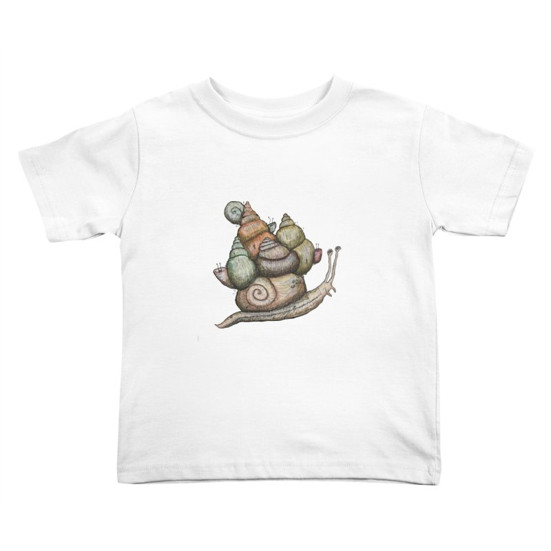King Castle Snail Kids Toddler T-Shirt by Thistleroot's Artist Shop