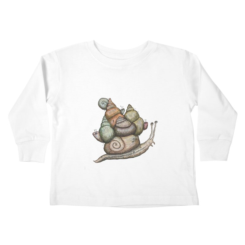 King Castle Snail Kids Toddler Longsleeve T-Shirt by Thistleroot's Artist Shop