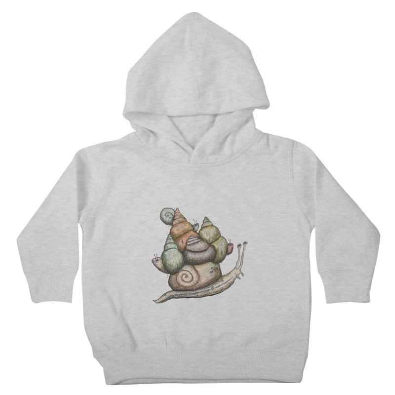 King Castle Snail Kids Toddler Pullover Hoody by Thistleroot's Artist Shop