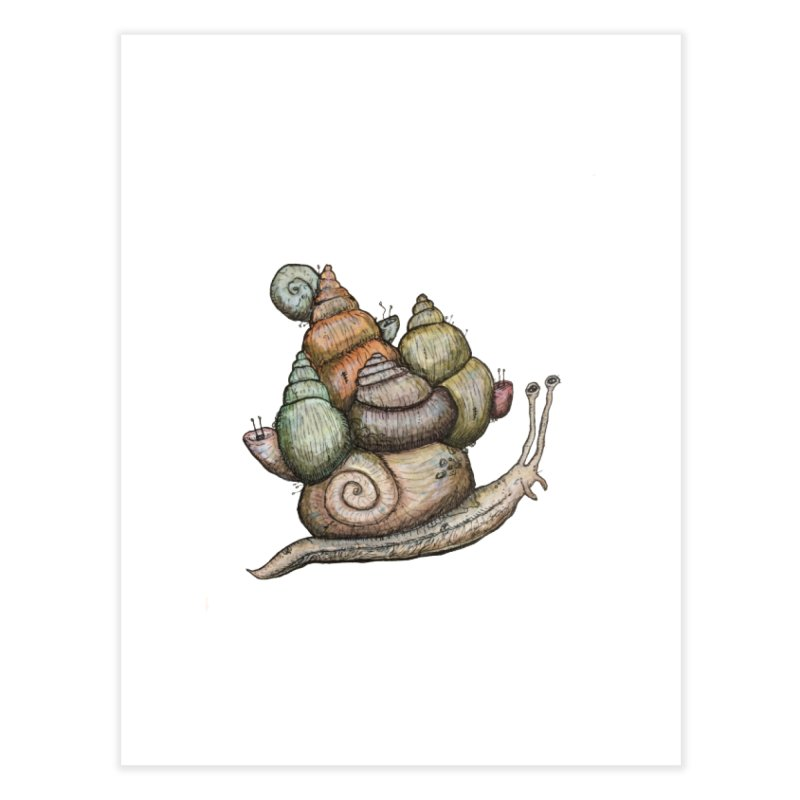 King Castle Snail Home Fine Art Print by Thistleroot's Artist Shop