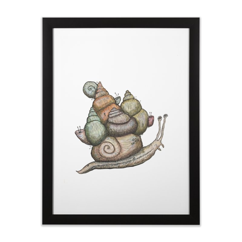 King Castle Snail Home Framed Fine Art Print by Thistleroot's Artist Shop