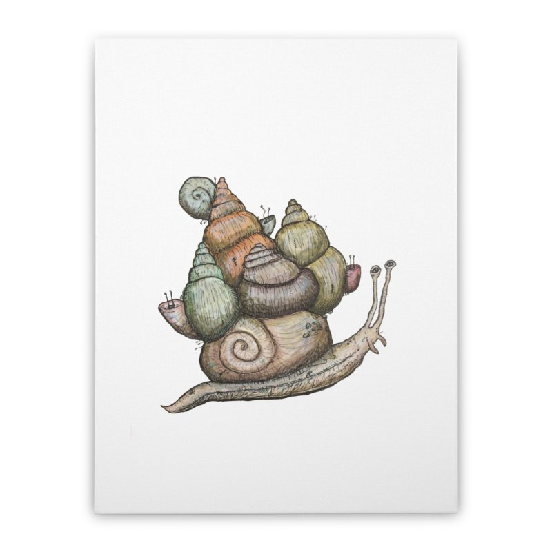 King Castle Snail Home Stretched Canvas by Thistleroot's Artist Shop