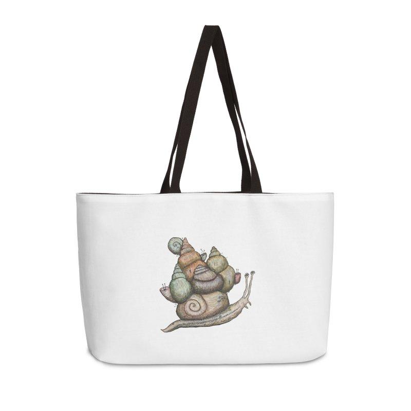 King Castle Snail Accessories Weekender Bag Bag by Thistleroot's Artist Shop