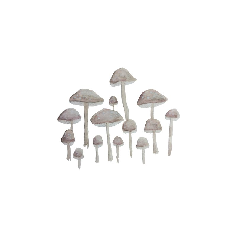 Pin Drop Mushrooms  by Thistleroot's Artist Shop