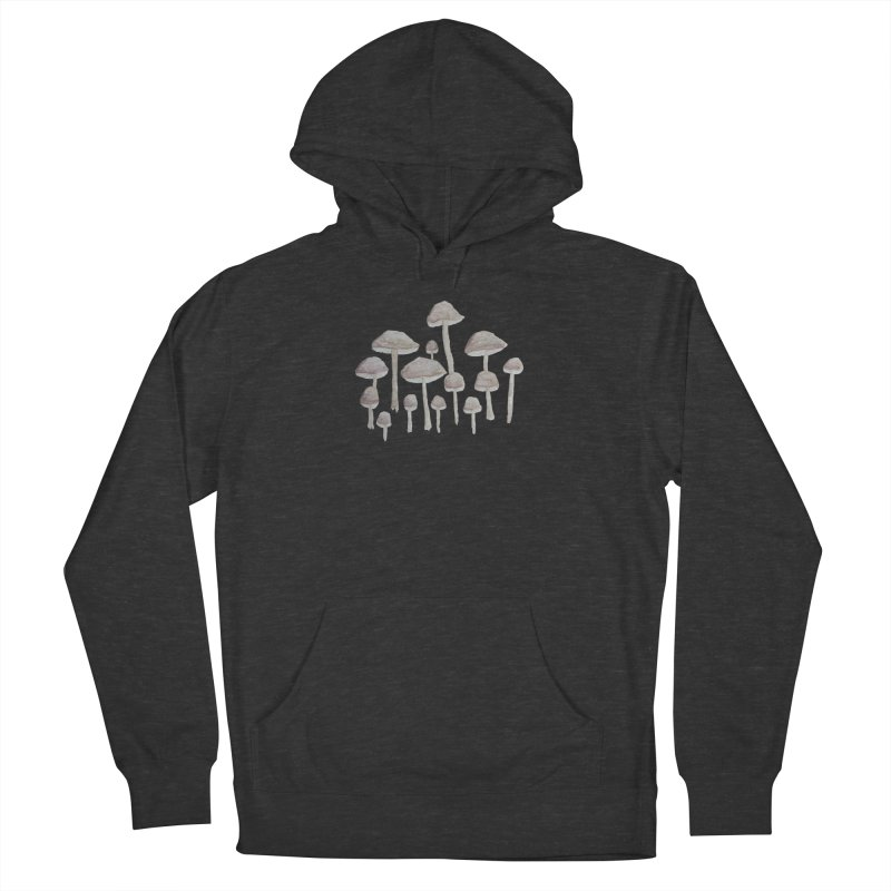 Pin Drop Mushrooms  Women's Pullover Hoody by Thistleroot's Artist Shop