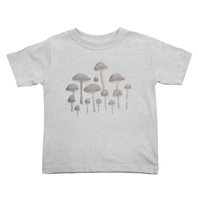 Pin Drop Mushrooms  Kids Toddler T-Shirt by Thistleroot's Artist Shop