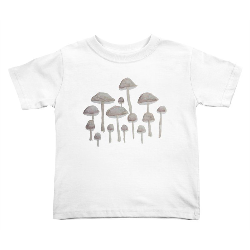 Pin Drop Mushrooms  Kids Toddler T-Shirt by Thistleroot's Artist Shop