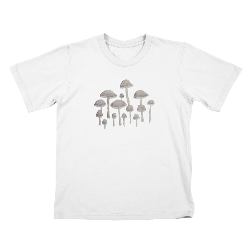 Pin Drop Mushrooms  Kids T-Shirt by Thistleroot's Artist Shop