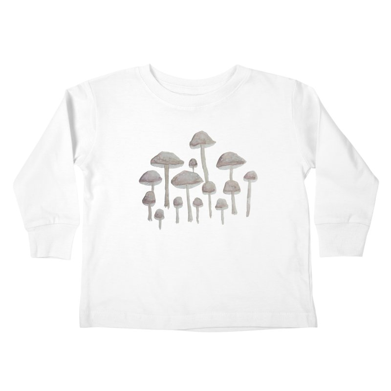 Pin Drop Mushrooms  Kids Toddler Longsleeve T-Shirt by Thistleroot's Artist Shop