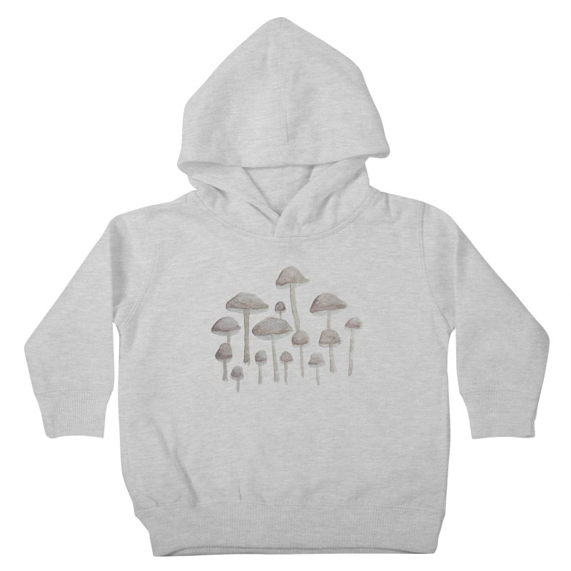 Pin Drop Mushrooms  Kids Toddler Pullover Hoody by Thistleroot's Artist Shop