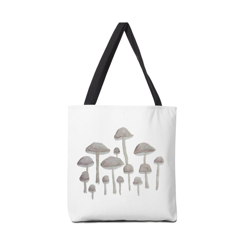 Pin Drop Mushrooms  Accessories Bag by Thistleroot's Artist Shop