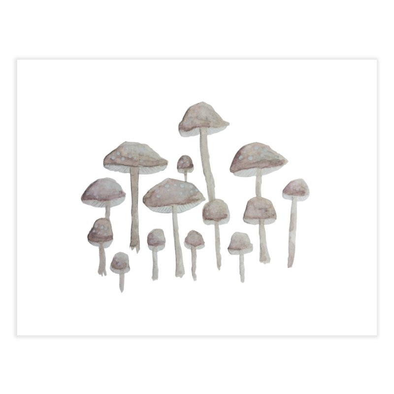 Pin Drop Mushrooms  Home Fine Art Print by Thistleroot's Artist Shop