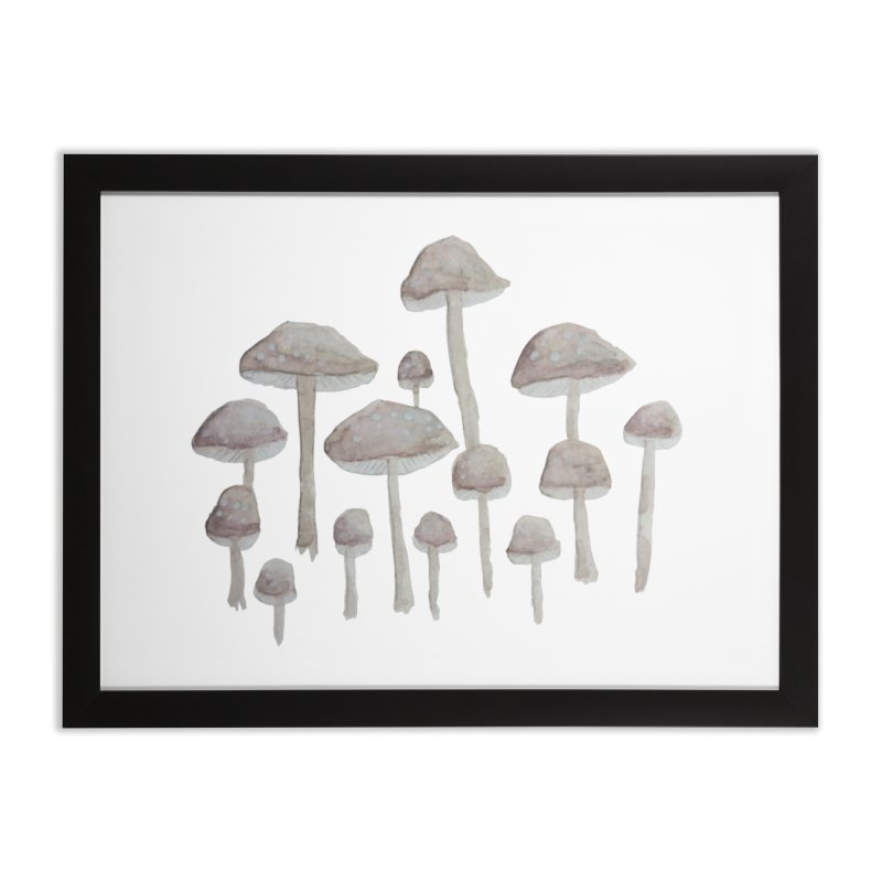 Pin Drop Mushrooms  Home Framed Fine Art Print by Thistleroot's Artist Shop