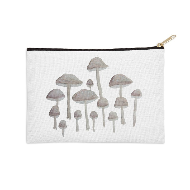 Pin Drop Mushrooms  Accessories Zip Pouch by Thistleroot's Artist Shop