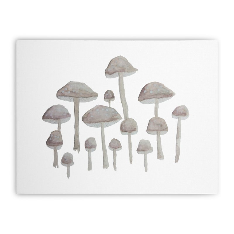 Pin Drop Mushrooms  Home Stretched Canvas by Thistleroot's Artist Shop