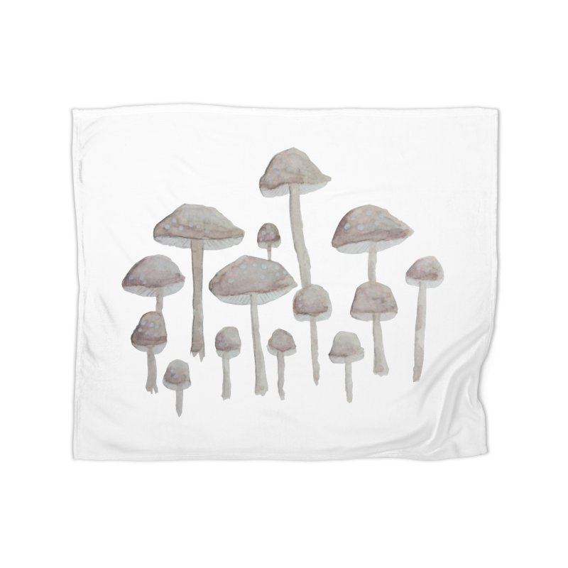 Pin Drop Mushrooms  Home Fleece Blanket Blanket by Thistleroot's Artist Shop