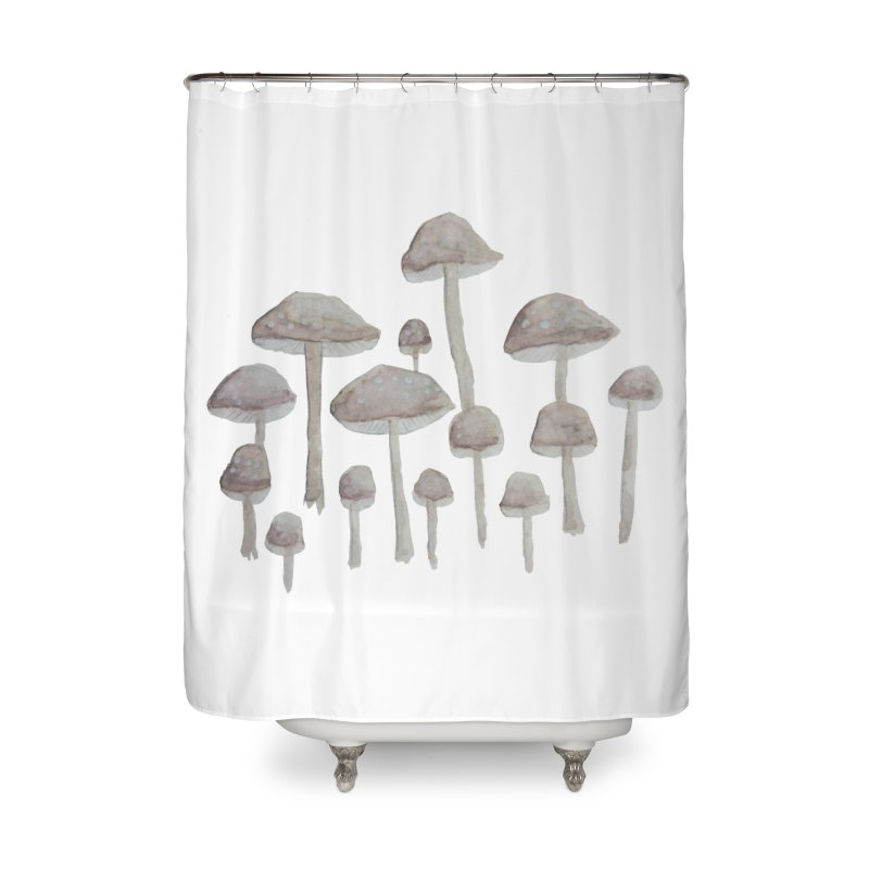 Pin Drop Mushrooms  Home Shower Curtain by Thistleroot's Artist Shop