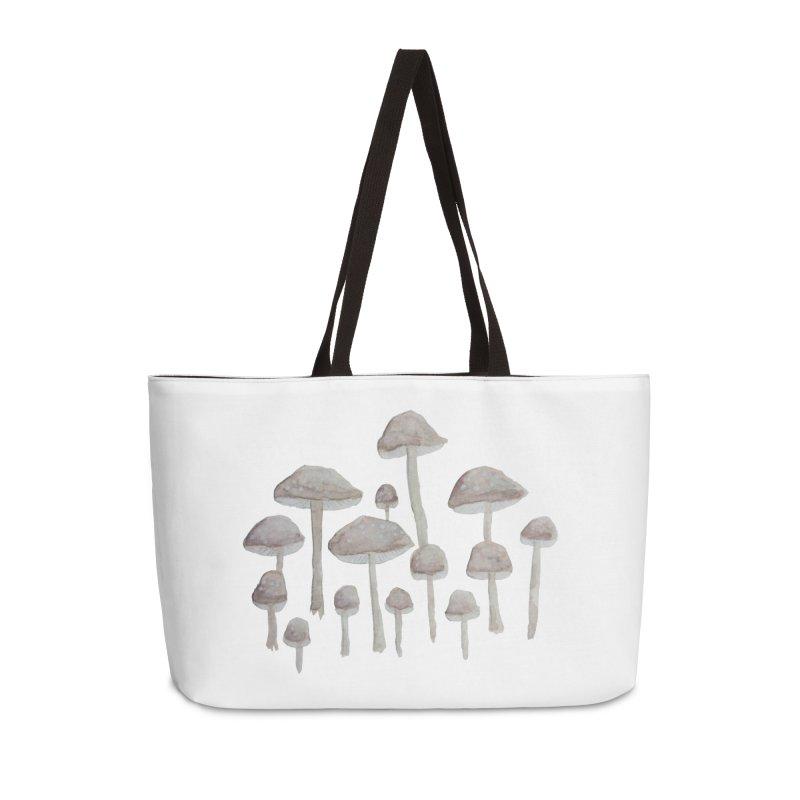 Pin Drop Mushrooms  Accessories Weekender Bag Bag by Thistleroot's Artist Shop
