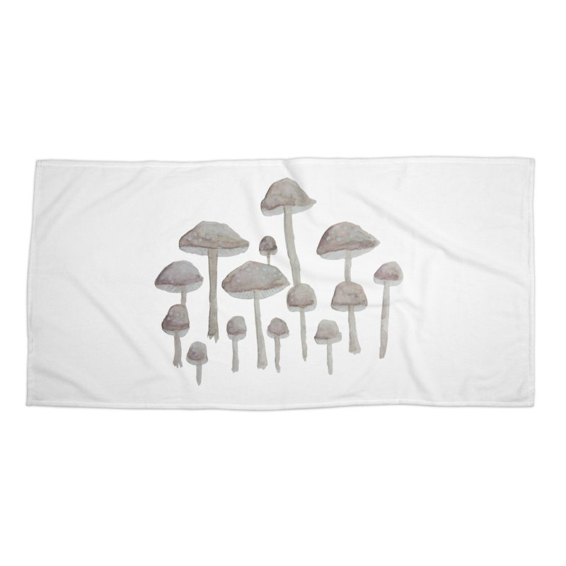 Pin Drop Mushrooms  Accessories Beach Towel by Thistleroot's Artist Shop