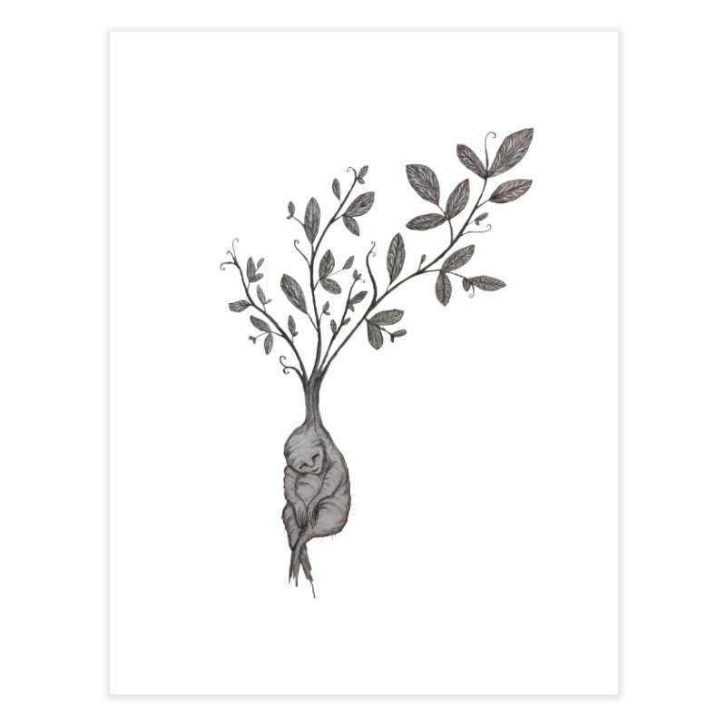 Sleeping Baby Root Home Fine Art Print by Thistleroot's Artist Shop