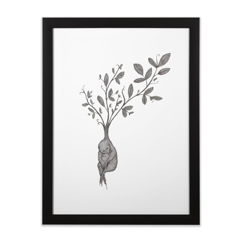 Sleeping Baby Root Home Framed Fine Art Print by Thistleroot's Artist Shop