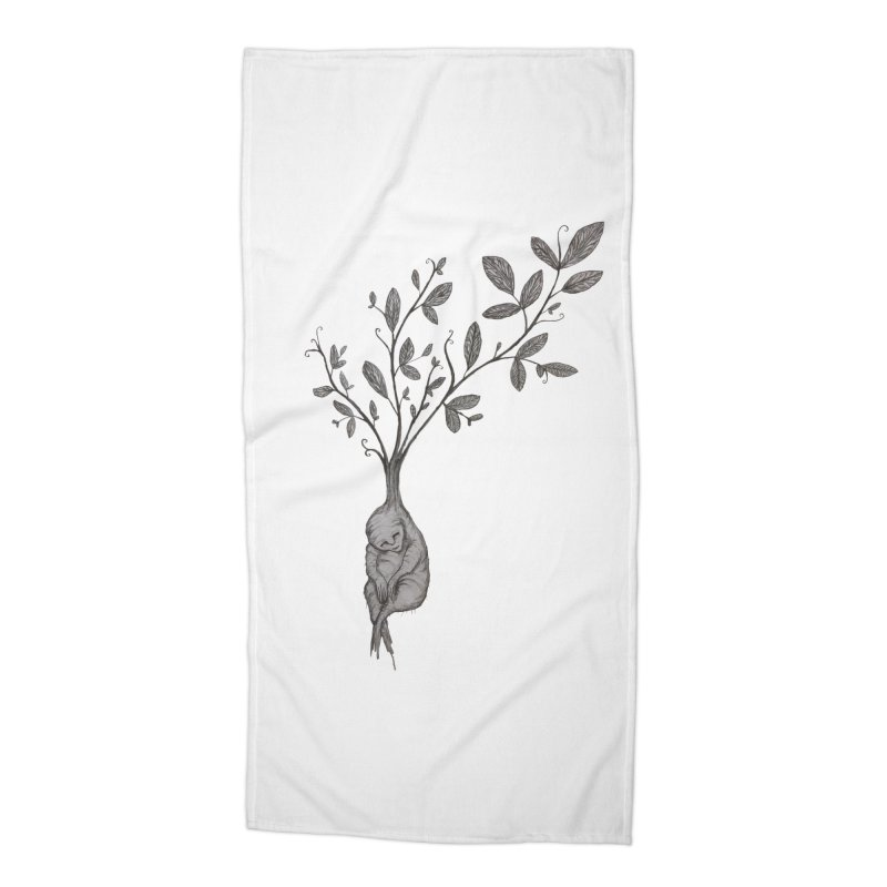 Sleeping Baby Root Accessories Beach Towel by Thistleroot's Artist Shop