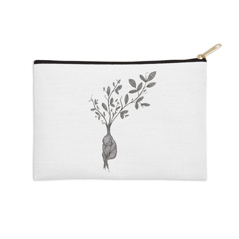 Sleeping Baby Root Accessories Zip Pouch by Thistleroot's Artist Shop