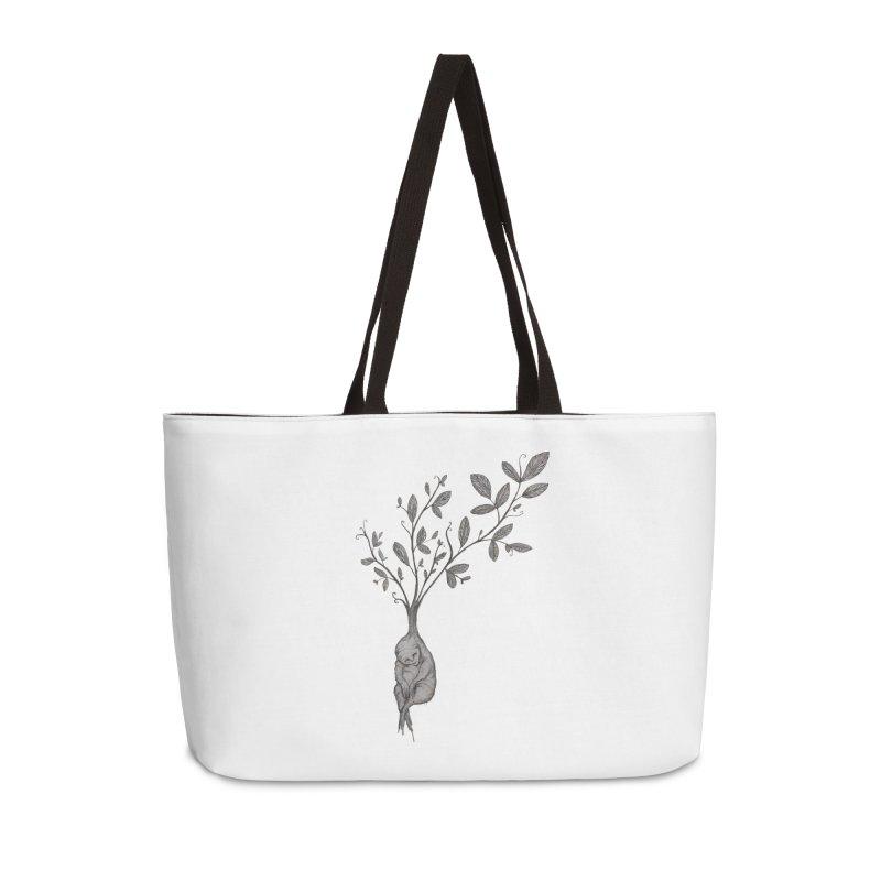 Sleeping Baby Root Accessories Weekender Bag Bag by Thistleroot's Artist Shop