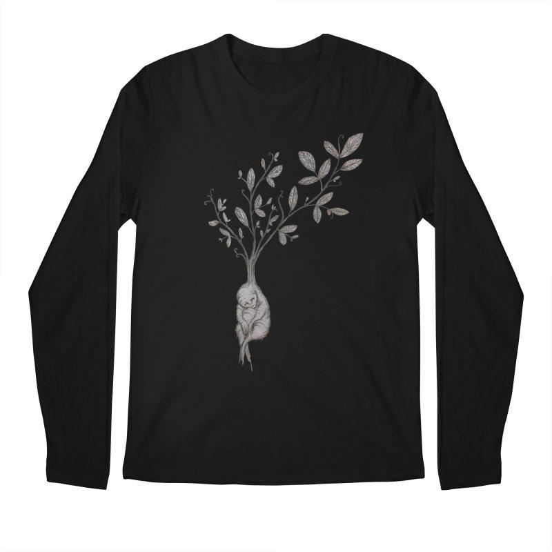 Sleeping Baby Root Men's Longsleeve T-Shirt by Thistleroot's Artist Shop