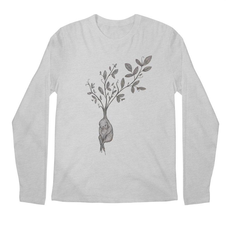 Sleeping Baby Root Men's Regular Longsleeve T-Shirt by Thistleroot's Artist Shop