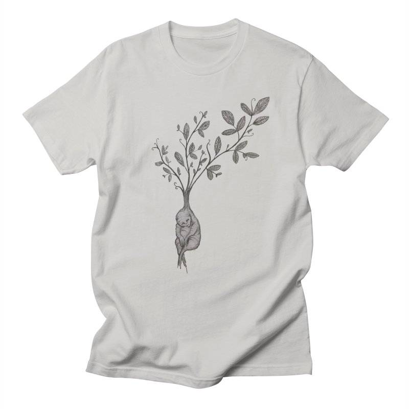 Sleeping Baby Root Men's T-Shirt by Thistleroot's Artist Shop