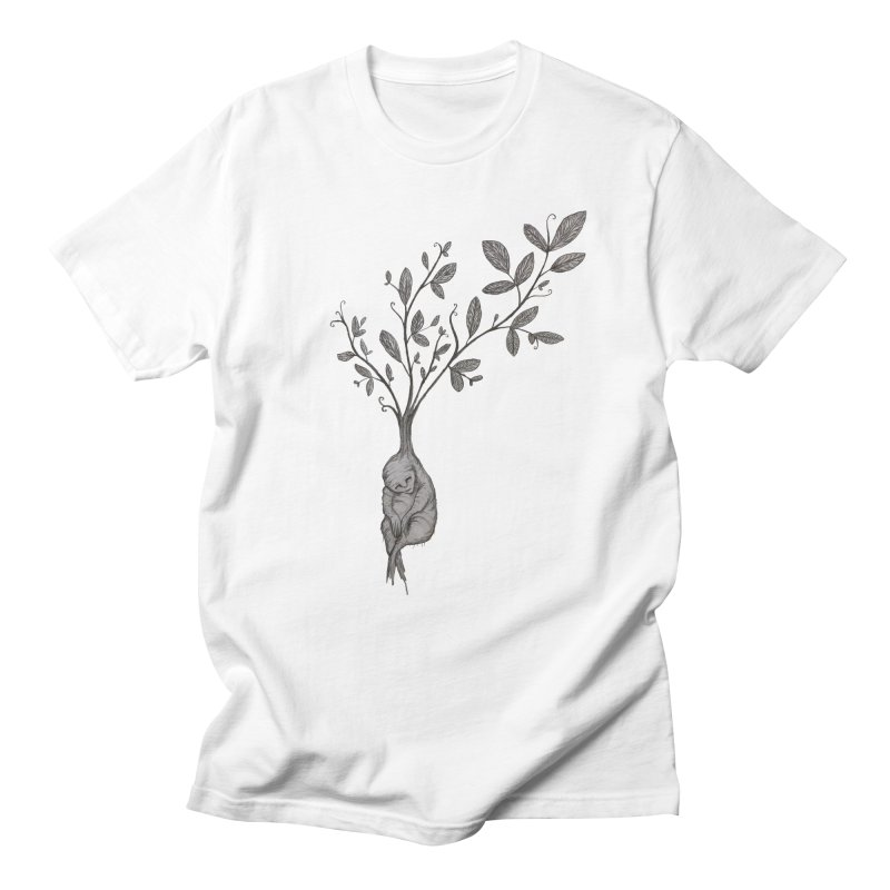 Sleeping Baby Root Men's Regular T-Shirt by Thistleroot's Artist Shop