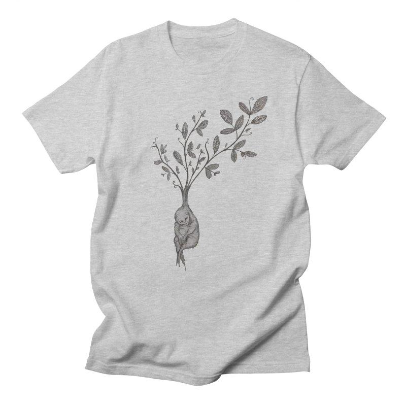 Sleeping Baby Root Men's Regular T-Shirt by Thistleroot's Artist Shop