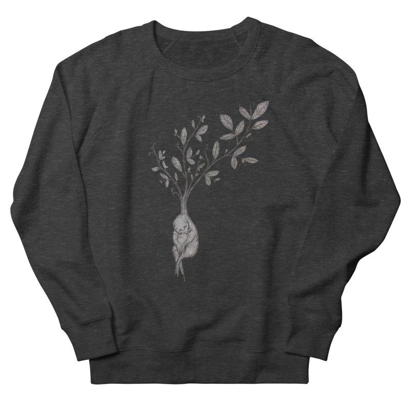 Sleeping Baby Root Men's French Terry Sweatshirt by Thistleroot's Artist Shop
