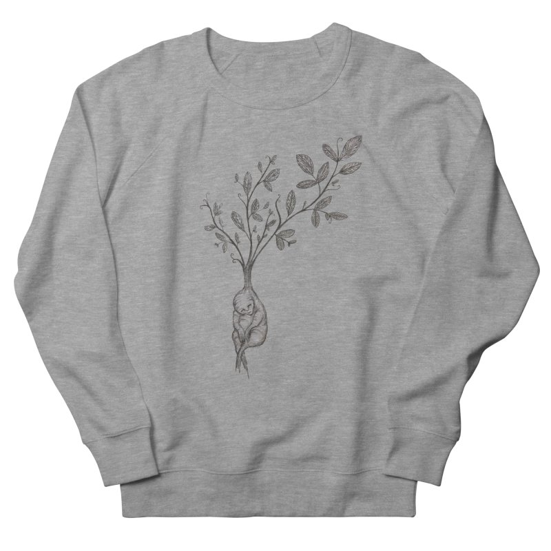 Sleeping Baby Root Men's French Terry Sweatshirt by Thistleroot's Artist Shop