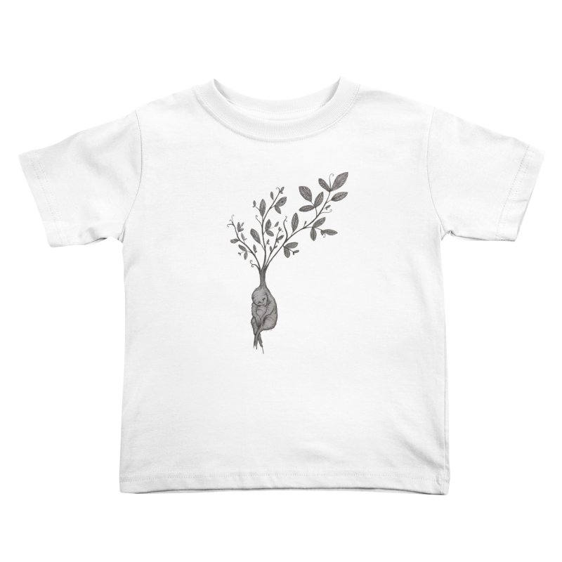 Sleeping Baby Root Kids Toddler T-Shirt by Thistleroot's Artist Shop