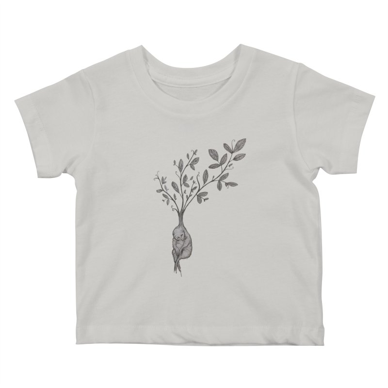 Sleeping Baby Root Kids Baby T-Shirt by Thistleroot's Artist Shop