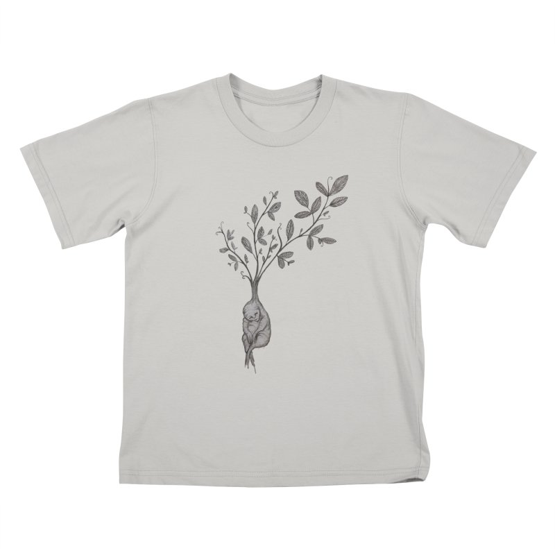 Sleeping Baby Root Kids T-Shirt by Thistleroot's Artist Shop