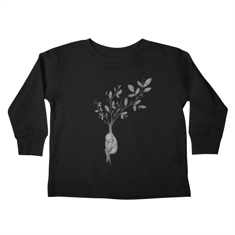 Sleeping Baby Root Kids Toddler Longsleeve T-Shirt by Thistleroot's Artist Shop
