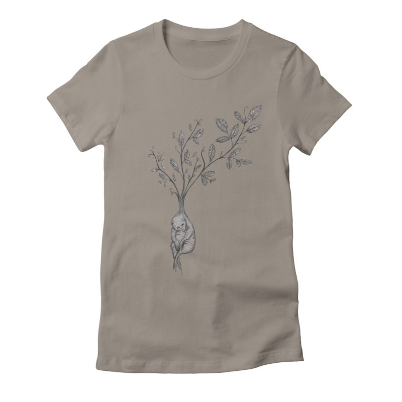 Sleeping Baby Root Women's Fitted T-Shirt by Thistleroot's Artist Shop