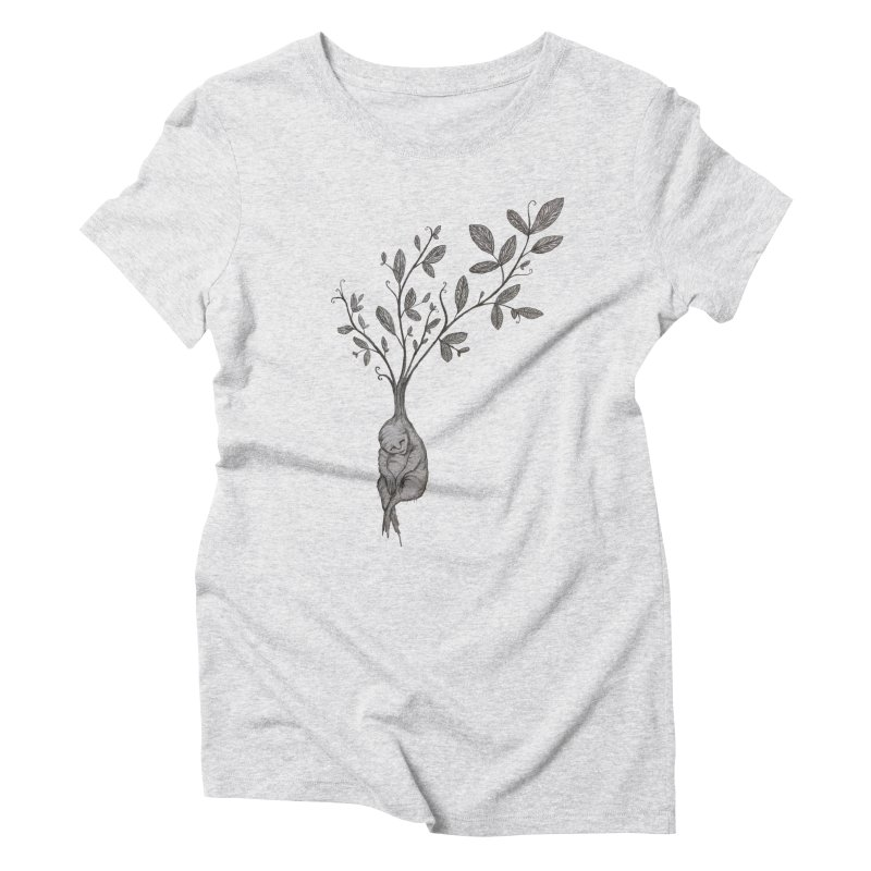 Sleeping Baby Root Women's Triblend T-Shirt by Thistleroot's Artist Shop