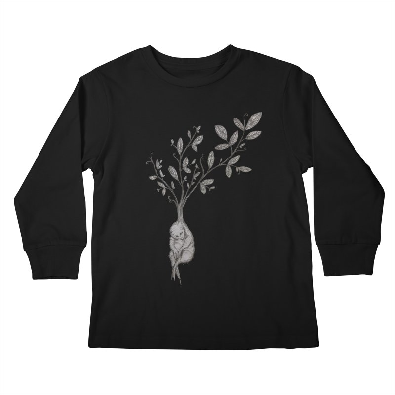 Sleeping Baby Root Kids Longsleeve T-Shirt by Thistleroot's Artist Shop