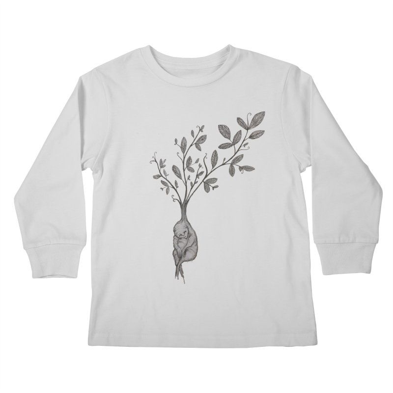 Sleeping Baby Root Kids Longsleeve T-Shirt by Thistleroot's Artist Shop