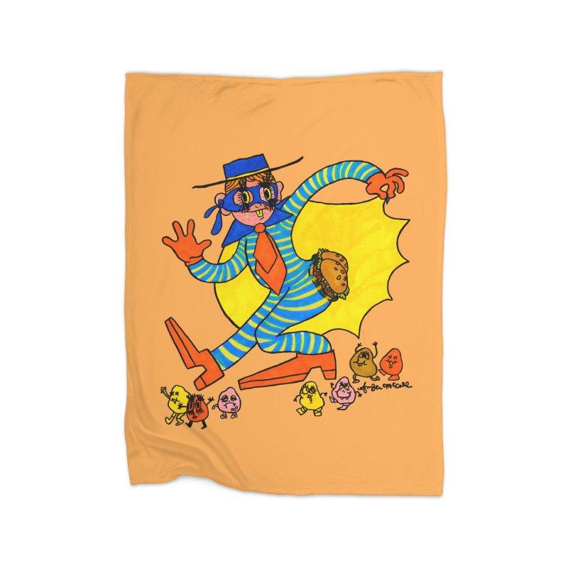 Hamburgular Booty Bandit Home Blanket by Thunderpuss