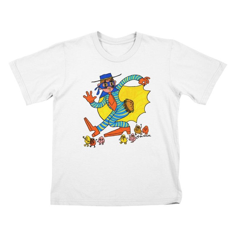 Hamburgular Booty Bandit Kids T-Shirt by Thunderpuss