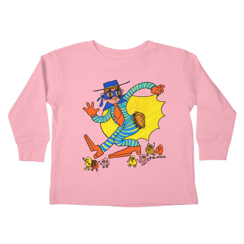Hamburgular Booty Bandit Kids Toddler Longsleeve T-Shirt by Thunderpuss